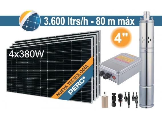 Bomba Sumergible Solar Tornillo Seif Energy 4SPS3.6-80-D48-750 - 4x380W