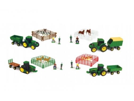 10 Piece Farm Set - Animales Y Tractor Oruga