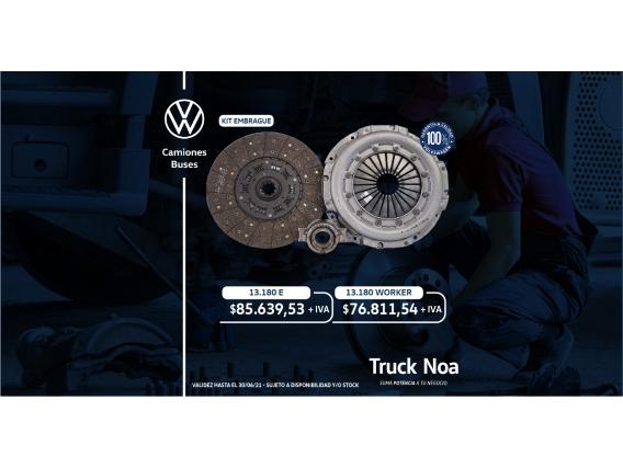 Kit De Embrague Volkswagen 13.180 WORKER