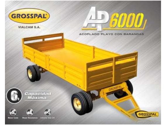 Acoplado playo Grosspal AP 6000