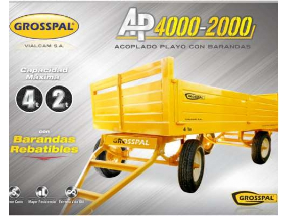 Acoplado playo GrosspalAP 4000