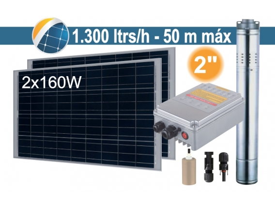 Bomba Sumergible Solar (Tornillo) Seif Energy 2SPS1.3/50-D24/140 - 2x160W
