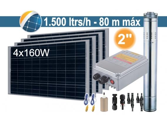 Bomba Sumergible Solar (Tornillo) Seif Energy 2SPS1.5/80-D24/210 - 4x160W