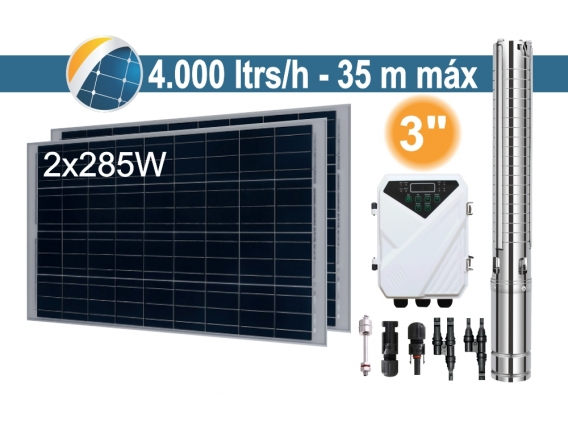 Bomba Sumergible Solar (Tornillo) Seif Energy 3DSC4-35-24-300 - 2x285W