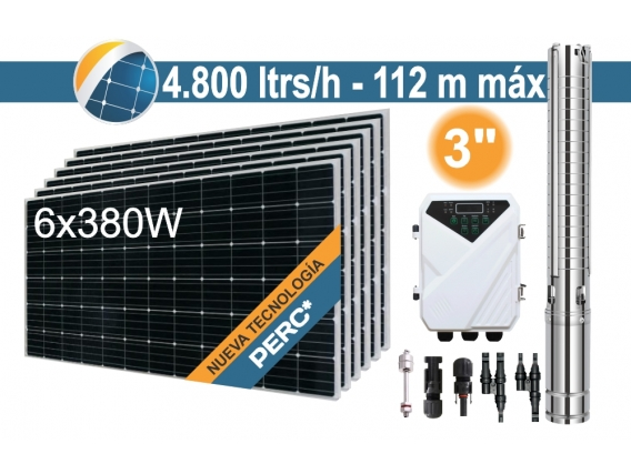 Bomba Sumergible Solar (Tornillo) Seif Energy 3DSC4.8-112-72-1100 - 6x380W