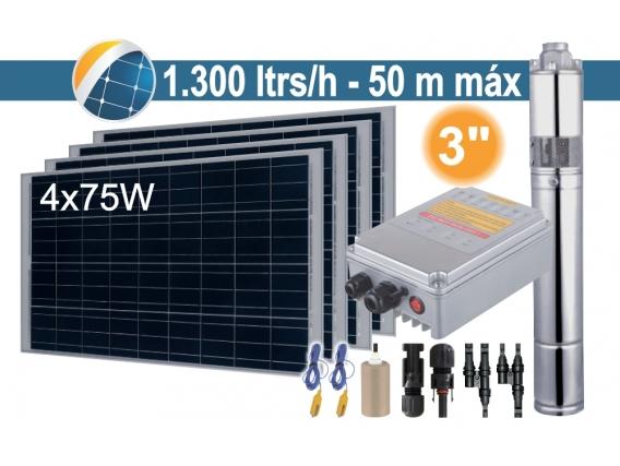 Bomba Sumergible Solar (Tornillo) Seif Energy 3SPST1.3/50-D24/140 - 4x75W