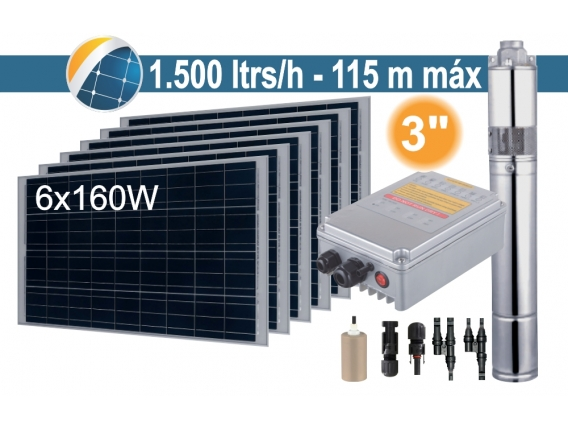 Bomba Sumergible Solar (Tornillo) Seif Energy 3SPST1.5/115-D36/500 - 6x160W