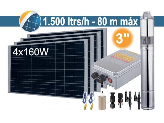 Bomba Sumergible Solar (Tornillo) Seif Energy 3SPST1.5/80-D24/210 - 4X160W