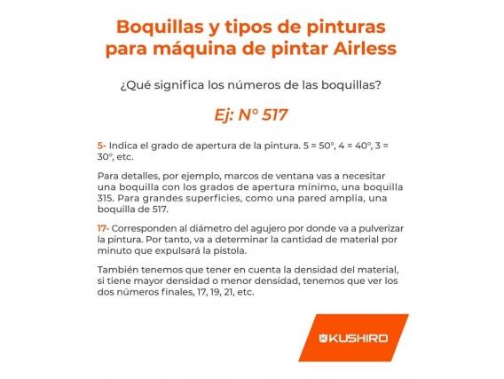 Boquilla  Kushiro P/ Airless Universal  Tips 421