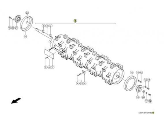 Cilindro acelerador Claas