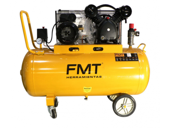 Compresor FMT 3HP 150L a Correa 220V Baja Baja 350 l/m