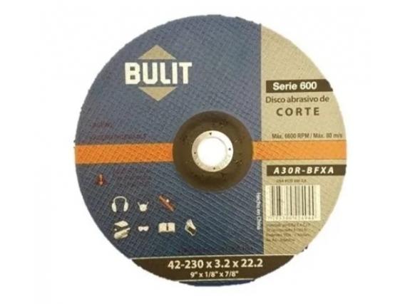 Disco Abrasivo Bulit Centro Deprimido 230x3,2x22,2 X 5 Unidades