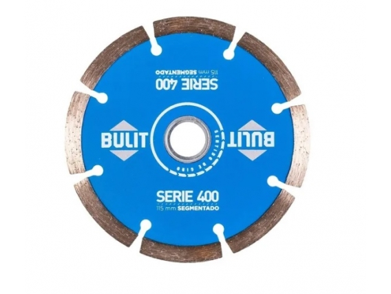 Disco Diamantado Bulit Para Amoladora S400 Segmentado 115mm