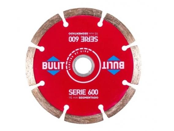 Disco Diamantado Bulit Serie 600 Segmentado 115mm