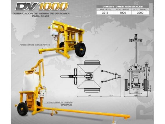 Dosificador de tierra Diatomea para silos Grosspal DV 1000