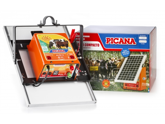 Electrificador-boyero Picana® Solar Compacto 60 60km - 1,4j