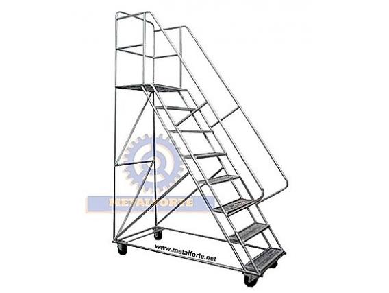 Escalera Movil Rodante Metalforte Tipo Burro 2,5 Mts