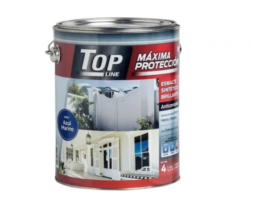 Esmalte Sintético Brillante 4 Litro Topline - Azul Marino