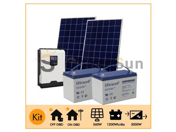 Kit Fotovoltaico Casa 3 kW 2240 W/Día Cheapsun