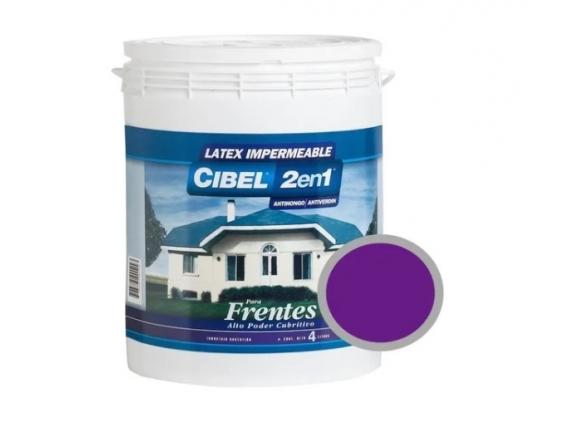 Latex Frentes 2en1 Cibel Exterior Impermeable 4 Lts Violeta