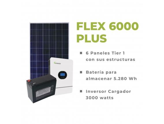 Kit Solar Off Grid Flex 6000 Plus