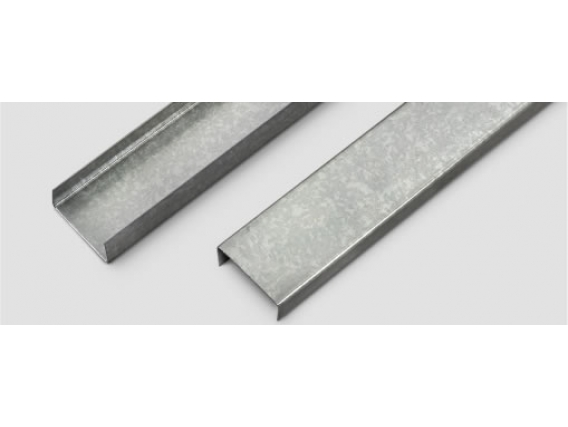 Perfil de aluminio Corralon Expósito PGU Perfil U Steel Frame