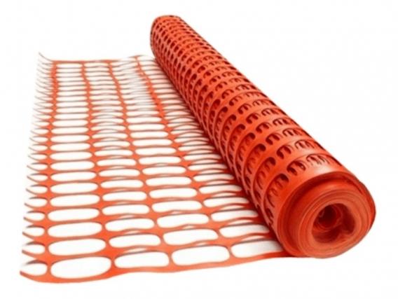 Red Malla Seguridad Vial Agrocan- Advertencia Naranja de Pvc