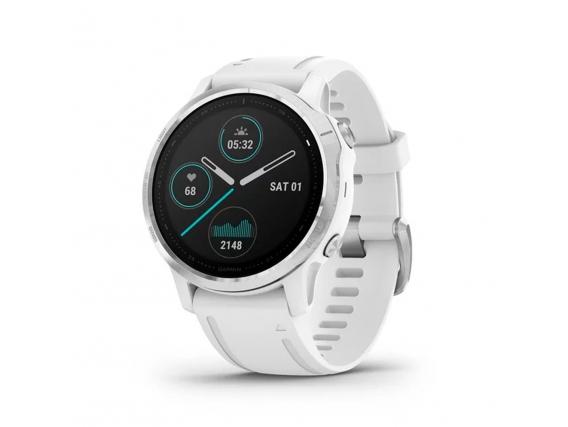 Reloj Garmin Fenix 6 S Plata Malla Blanca GPS Smartwatch