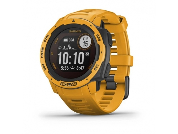 Reloj Garmin Instinct Solar Ultra Resistente Liviano GPS Amarillo ocre