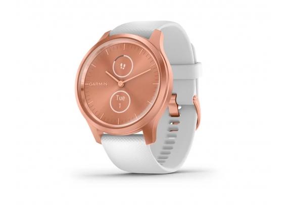 Reloj Garmin Vivomove 3 Style GPS Silicona 42 mm Blanco / Rosa Oro