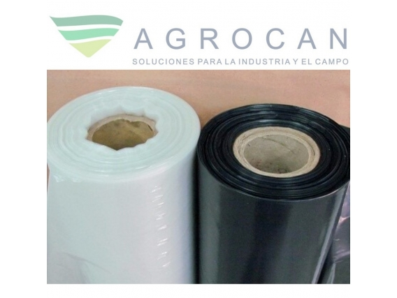 Rollo Polietileno Agrocan-  Nylon Cristal Recuperado Negro Invernadero
