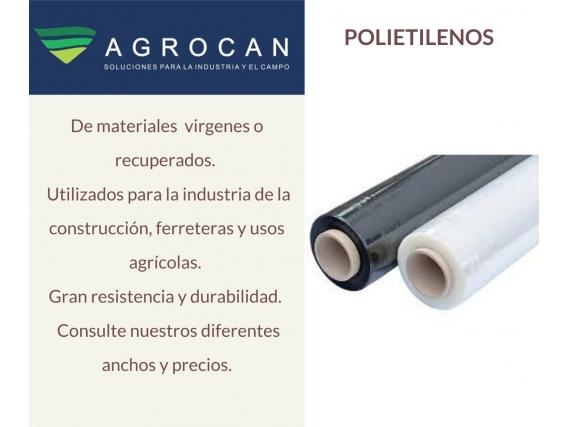 Rollo Polietileno Nylon Agrocan- Negro Invernadero