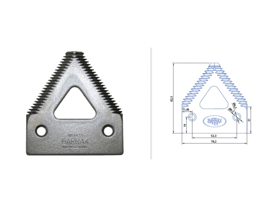 Seccion Reforzada John Deere H84415 - Calada Agujero Fresado 6,5 mm. Diente Grueso