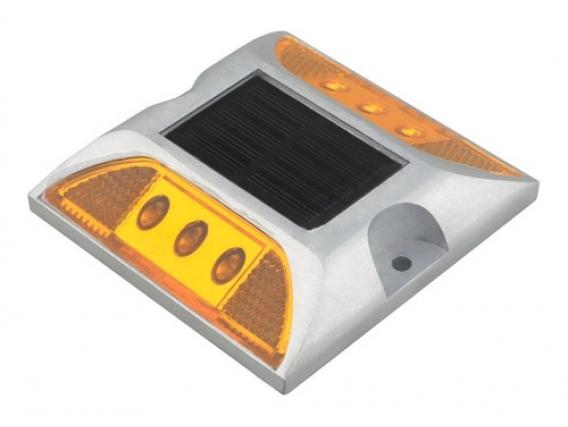 Tacha De Señalización Vial Solar Naranja Constante Leblux