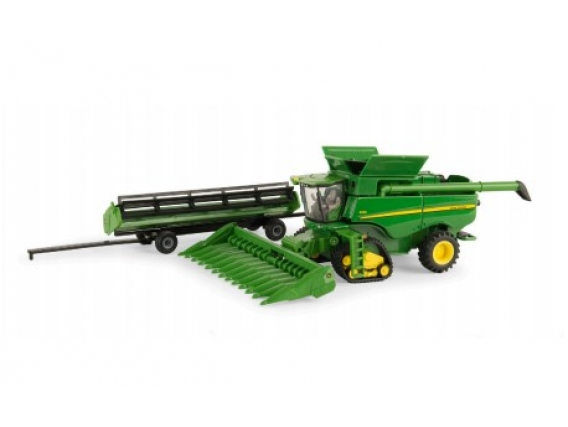 Tracked Combine With Header Trailer S690