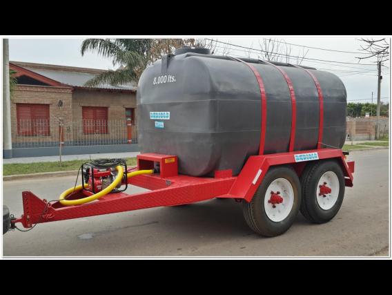 Acoplado Cisterna Tanque Plastico 8.000 Lts. Cp1010