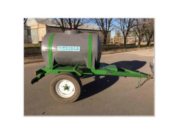 Acoplado Cisterna Tanque Plastico Para 1.000 Lts Cp1001