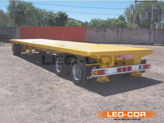 Acoplado Leo-Cor 3 Ejes Plataforma Baja