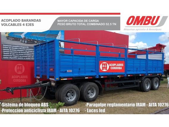 Acoplado Ombu 4 Ejes - Baranda Volcable- 52.5 Tn