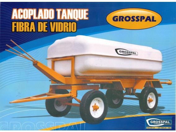 Acoplado Tanque Fibra De Vidrio. Grosspal Nuevo