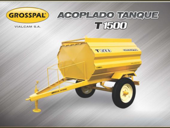 Acoplado Tanque Grosspal T 1500