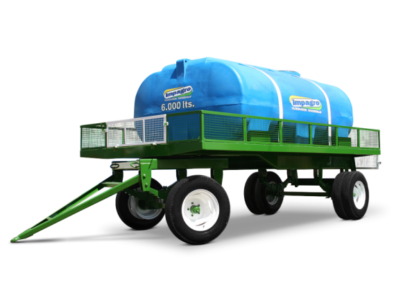 Acoplado tanque plástico Impagro 6000 Lts