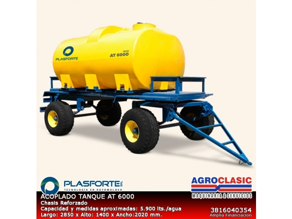 Acoplado Tanque Plasforte 6000 Lts