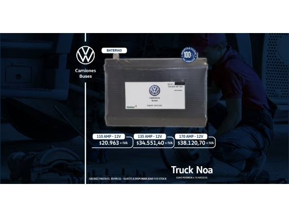 Batería Volkswagen Para Camiones De 110 AMP 12V