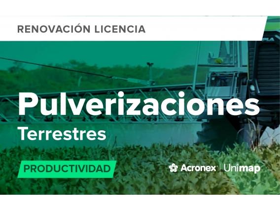 Acronex Unimap Pulverizaciones Terrestres Productividad - Renovación