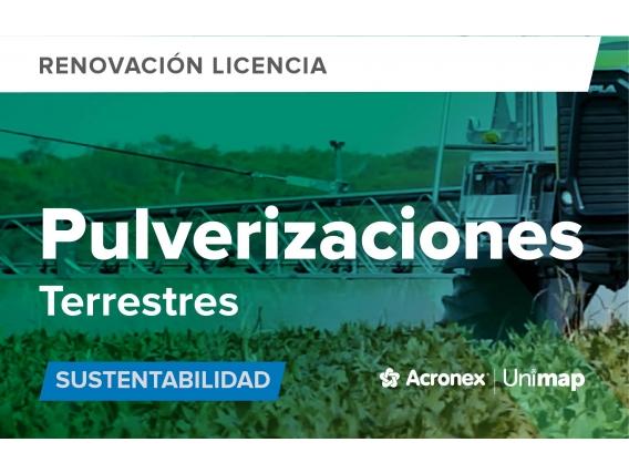 Acronex Unimap Pulverizaciones Terrestres Sustentabilidad - Renovacion