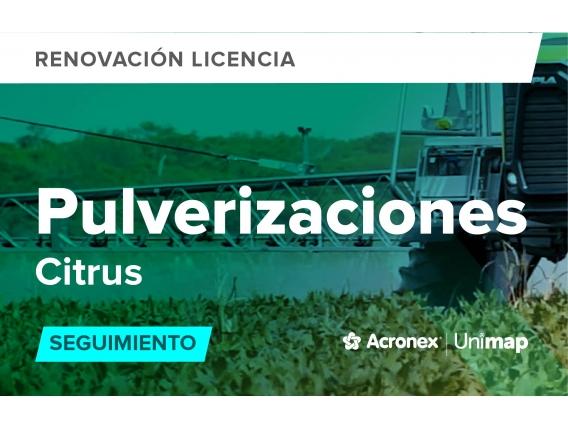 Acronex Unimap Pulverizaciones Citrus Seguimiento - Renovación