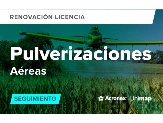Acronex Unimap Pulverizaciones Aéreas Seguimeinto - Renovación
