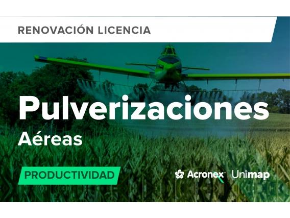 Acronex Unimap Pulverizaciones Aéreas Productividad - Renovación
