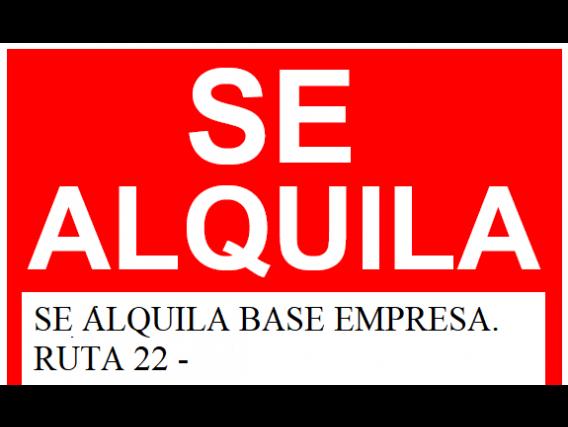 Alquilo Galpones Sobre Ruta Nacional 22.